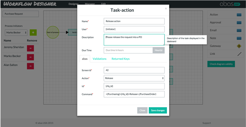Workflow-editor-input-box