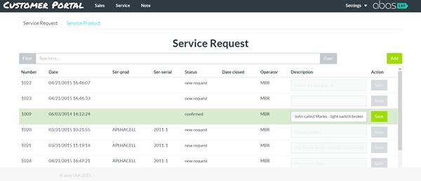 Müşteri portalının servis fonksiyonları ile servis talepleri oluşturabilir, servis ürününün durumunun sorgulayabilirsiniz.